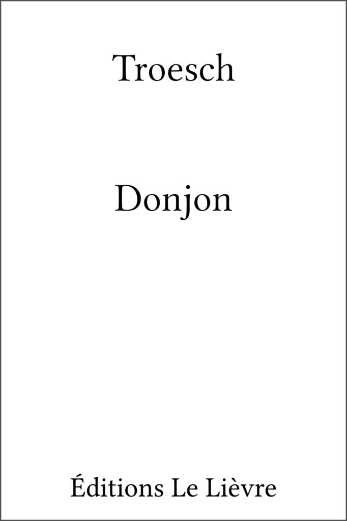 Couverture de Donjon par Troesch